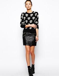 Glamorous Skull Print Sweater