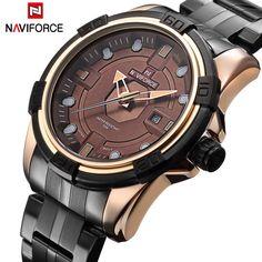 US $99.96 - Watches Men NAVIFORCE Brand Full Steel Army Military Watches Men's Quartz Hour Clock Watch Sports Wrist Watch relogio masculino
