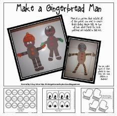Miner & Monkey Business presents a FREE versatile gingerbread man pattern! There are many different ways to assemble them that no two will look alike in a classroom! I hope you enjoy them. Gingerbread Man Story, Gingerbread Man Activities, Christmas Gingerbread, Christmas Activities, Christmas Themes, Christmas Fun, Holiday Crafts, Winter Activities, Kindergarten Christmas