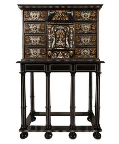 Louis Xiv, Theater Architecture, Century Cabinets, Checkerboard Floor, Grands Vases, Damier, Marquetry, Corinthian, Objet D'art