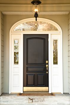 Front Door Paint Colors - Want a quick makeover? Paint your front door a different color. Here a pretty front door color ideas to improve your home's curb appeal and add more style! Best Front Door Colors, Best Front Doors, The Doors, Entry Doors, Front Entry, Front Porch, Entryway, Dark Front Door, Patio Doors