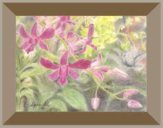Nice orchid pastel scene. #art #pastel #orchid #dendrobium