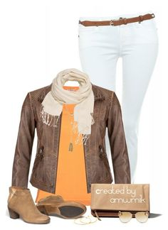 """""""Early Autumn"""" by amwmik ❤ liked on Polyvore featuring Paige Denim, maurices, Abercrombie & Fitch, Cara, M&Co, Michael Kors and Gorjana"""