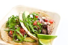 Skirt Steak Tacos Recipe + secret tip to the MOST tender skirt steak!| steamykitchen.com ~ http://steamykitchen.com