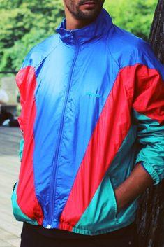 a1ad272f553 YUMMY Vintage Discount. Vintage Adidas Jacket Mens Streetwear Fashion | Vintage  Windbreaker ...