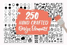 250 Hand Crafted Design Elements by Type and Graphics Lab on @creativemarket