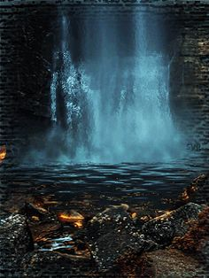 Beauty of Waterfall/ Have a bless night sleep! Foto Gif, Beautiful Places, Beautiful Pictures, Ocean Photos, Beautiful Waterfalls, Nature Pictures, Amazing Nature, The Great Outdoors, Mother Nature