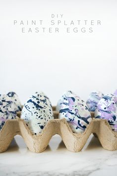 DIY Paint Splatter Easter Eggs