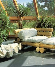relax on a bamboo couch?