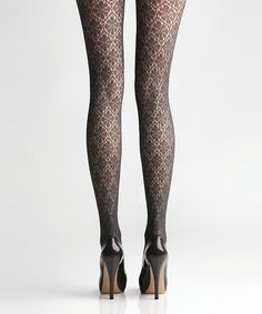 Another great find on #zulily! Via Spiga After Dark Duchess Lace Tights by Via Spiga #zulilyfinds