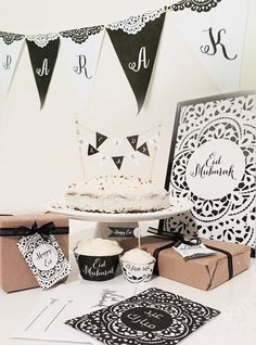DIY Eid Decorations Black and White Doilie Printable Pack - Eid Mubarak, Eid decor, Islam Art, Islamic Print, Islamic quote, Ramadan by FitrahStudio on Etsy https://www.etsy.com/listing/239201653/diy-eid-decorations-black-and-white