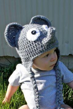Crochet Elephant Hat for Newborn Baby Toddler Child by makinitmama, $22.00