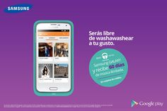 """Samsung y Google Play Música lanzaron una promoción en la que te ofrecen 60 días del servicio de """"Google Play Música"""" gratis por 60 días. Aprovecha y descarga tus canciones favoritas! #miguelbaigts"""