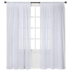 Nate Berkus™ Horizontal Sheer Curtain Panel used in bathroom