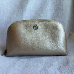 Chanel Chanel Champagne Leather Cosmetic Case Bag