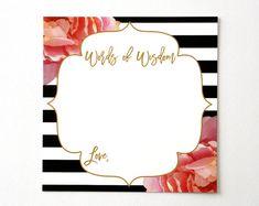 Words of Wisdom Cards Wedding Advice Card by agiftfordesign