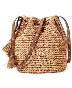 Lauren Ralph Lauren Goswell Janice Small Bag $76.80 A modern drawstring silhouette and a playful removable tassel take Lauren Ralph Lauren's paper-straw bag from basic to chic.
