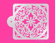Flower Pattern Cake Stencil, Cookie Stencil, Schablone (Product Code K106)