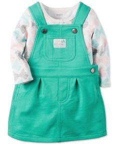 Carter's Baby Girls' 2-Piece Shirt & Jumper Set