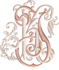 Embroidery Monogram Fonts, Embroidery Alphabet, Embroidery Thread, Floral Embroidery, Machine Embroidery, Embroidery Designs, Letter Art Design, Monogram Letters, Cross Stitch Patterns