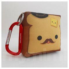 Toy Keychain, Stuffed Toy, Kawaii Print, Carabiner - Monsieur Toast
