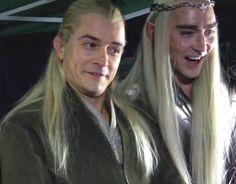 Legolas and Thranduil Funny | Legolas and Thranduil demonstrating Elven dignity. Too funny!!!! :D:D ...