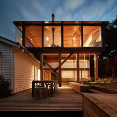 """Fed up with the all the """"McMansions"""" springing up on Australia's Great Ocean Road, Austin Maynard Architects has restored and extended an old beach shack"""