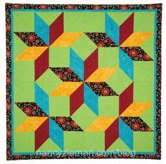 How to sew a long star quilt block Nancy Zieman