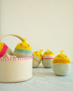Soft and squishy, roly and poly, these chicks are just the right shape and size for Easter baskets and little hands.