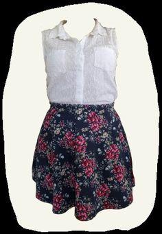 Cotton On skater skirt floral