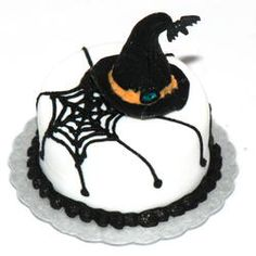 Witches Hat/Web Cake | Stewart Dollhouse Creations