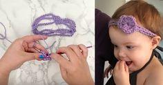 Floral Headbands For The Win! Crochet Ruffle, Crochet Baby, Knit Crochet, Floral Headbands, Crochet Headbands, Crotchet, Crochet Projects, Diy And Crafts, Crochet Earrings