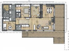 Small House Design, Ideal Home, Future House, Beach House, House Plans, Sweet Home, Floor Plans, Layout, Flooring