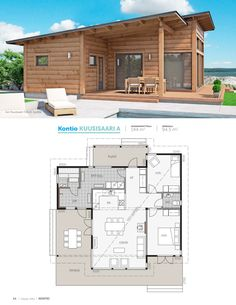 Beach House Floor Plans, Home Design Floor Plans, Modern House Plans, Small House Plans, Sims 4 House Building, Sims House, Building A Container Home, Container House Design, Villa Design