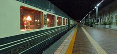 The Eastern & Oriental Express train at Kuala Lumpur station (Malaysia).