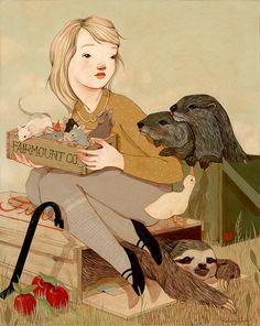 FairmountCo. by Rebecca Green, Acrylic and Oil on Board