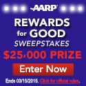 Check out AARP Rewardsfor the chance to win a $25,000 Grand Prize plus a $20 gift card INSTANTLY!Age: 45+ Only