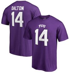 Andy Dalton TCU Horned Frogs Fanatics Branded Big & Tall College Legends Name & Number T-Shirt - Purple
