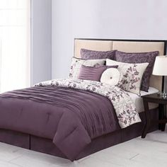 Purple /Eggplant and Cream Bedding - Home Classics Bloomfield 10-pc. Comforter Set at Kohl's