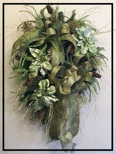 Christmas Door Wreath, Christmas Wreaths Front Door, Holiday Wreaths For Front Door, Holiday Wreath,