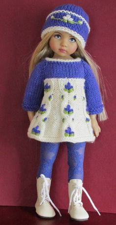 Sweater Leggings Hat Boot Set Made for Effner Little Darling Similar Size Dolls | eBay