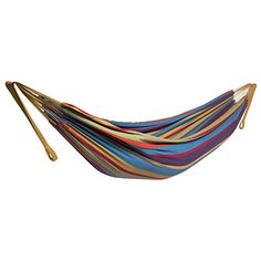 Camping Hammock  Double hammock Swing 2 Person Brazilian Style for Garden Outdoor  Indoor Portable for Travel Vacation Space Saving Steel Frame  Carrying Bag >>> Read more  at the image link.