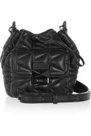 Karl LagerfeldK/Kuilted mini leather shoulder bag