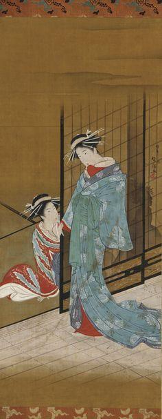 Two oiran / 19th century by KUBO Shunman , (Japanese, 1757-1820)