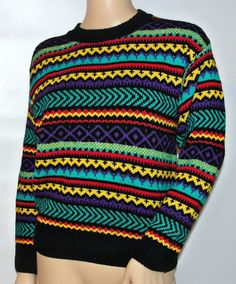 Vintage Hipster Colorful Cosby Sweater on Etsy, $20.07 CAD