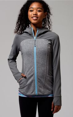 head to practice in this sweat–wicking four–way stretch jacket with ventilation and plenty of pockets for your essentials. | Ready To Perform Jacket