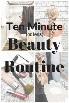 Fast and easy beauty routine. Tricks and tips to an easy morning routine!