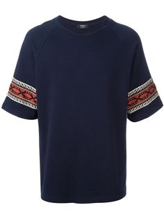 Ports 1961 ethnic embroidered detail T-shirt