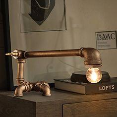 Kunst Lampenraum loft cafe bar dekoriert retro Industrierohre kreative Persönlichkeit Schreibtischlampe Lampen-Beleuchtung