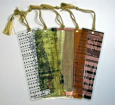 Circuit board bookmarks - so cool! @ecoatm
